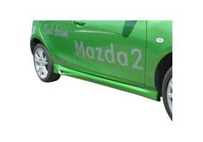 Juego de faldones laterales Mazda 2 9/2007- (ABS)