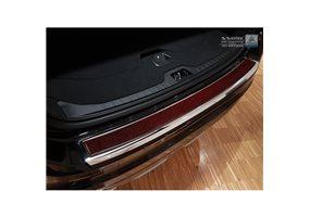Protector Paragolpes Acero Inoxidable Volvo Xc60 2013-2016 Cromado/look Carbono Rojo-negro