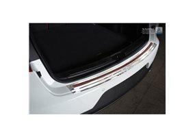 Protector Paragolpes Acero Inoxidable Porsche Macan 2014- Cromado/look Carbono Rojo-negro