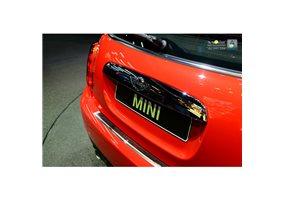 Protector Paragolpes Acero Inoxidable Mini One/cooper F56 3-puertas 3/2014- Cromado/look Carbono Rojo-negro