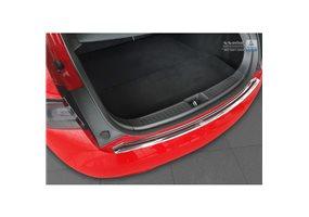 Protector Paragolpes Acero Inoxidable Tesla Model S 2012- Cromado/look Carbono Rojo-negro