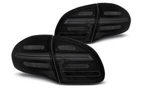 Juego De Pilotos Traseros Led Dinamicos Porsche Cayenne 10-15 Negro Aumado