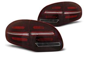 Juego De Pilotos Traseros Led Dinamicos Porsche Cayenne 10-15 Rojo Cristal