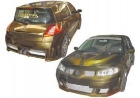 Escape deportivo inoxidable Peugeot 306 Cabrio 1.6 (89pk) 94-97 80mm