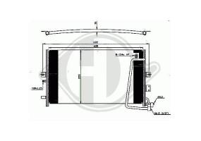 Condensador Saab 9-5, 97-01...